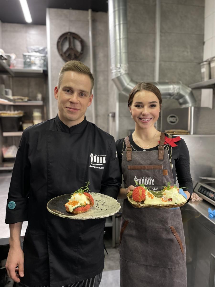 На днях в гостях у Бадди творила и готовила эксклюзивное блюдо для наших гостей фигуристка сборной России, Елизавета Нугуманова
